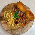 Plated Pulled Pork burger