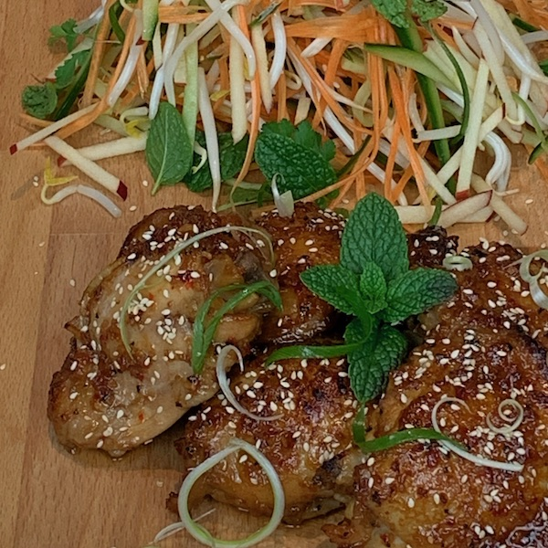 Plated Lemongrass Chicken