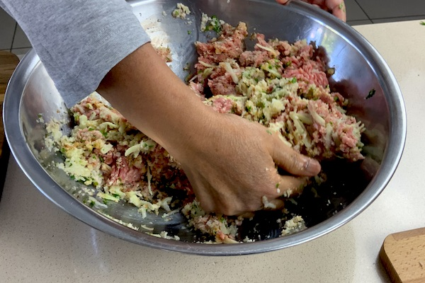 mix the meatloaf by hand for pressure cooker