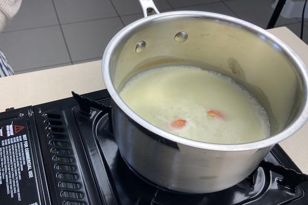 warm the milk with orange