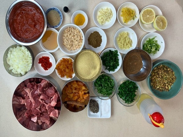 moroccan lamb ingredients