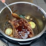 pressure cook the meat