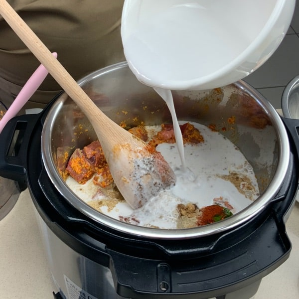 rendang add coconut milk