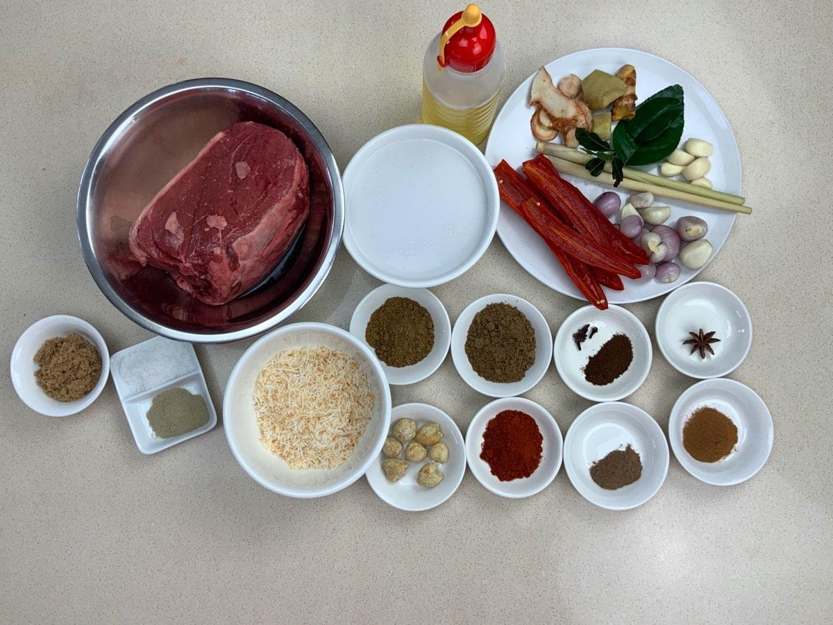 padang rendang ingredients