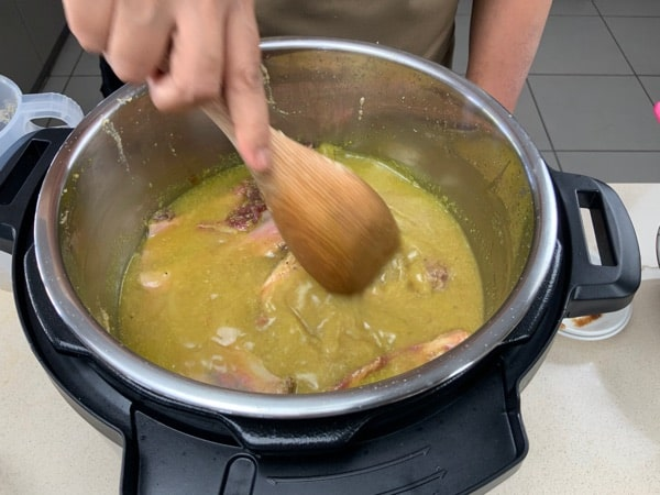 stir in the spices pressure cooker indonesian