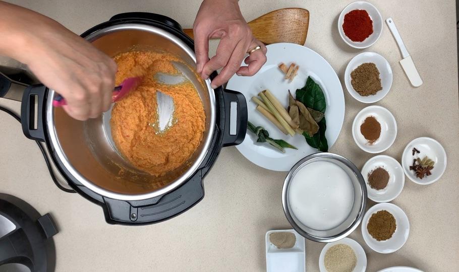 cook rendang paste