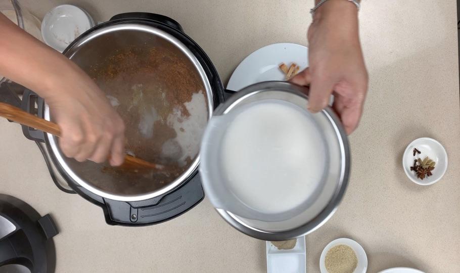 add coconut cream