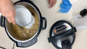 final step in making jackfruit beef stew