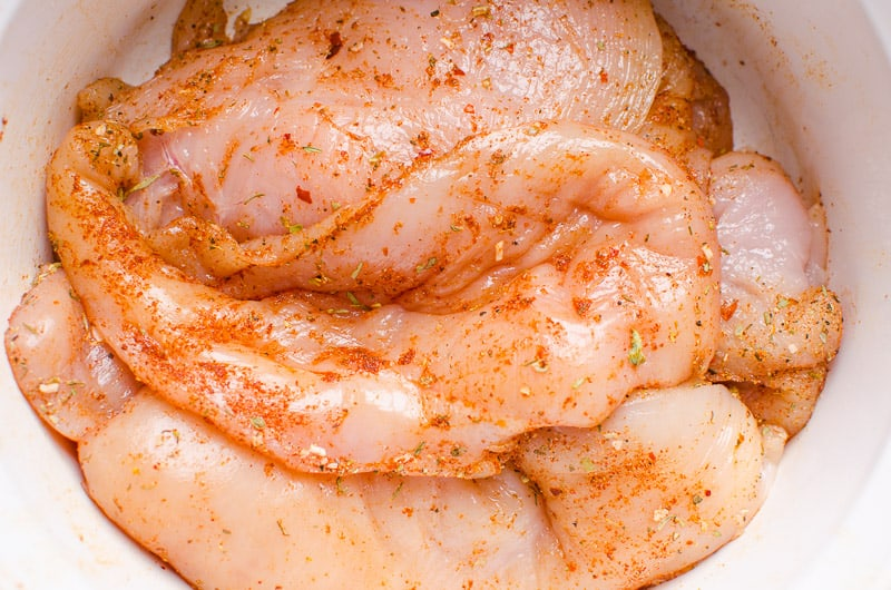 cooking chicken with bbq sauce