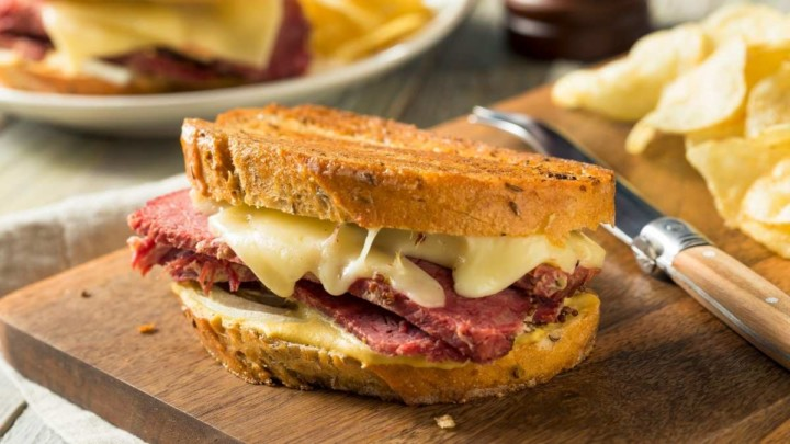 Rueben Corn Beef Sandwich