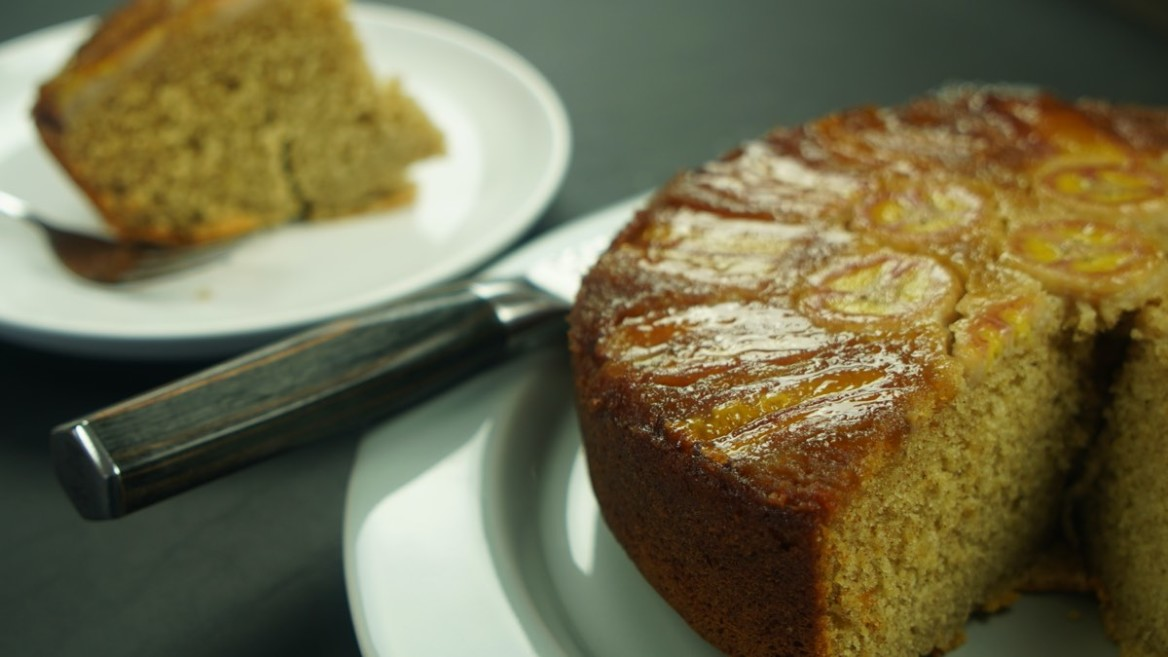 recipe for banana upside down cake
