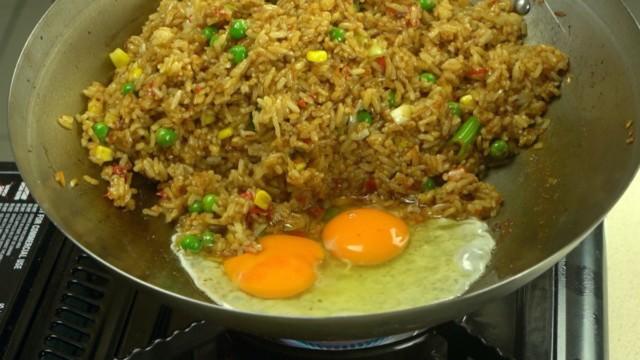 Add Egg To Nasi Goreng