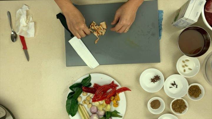 Finely Chop The Galangal