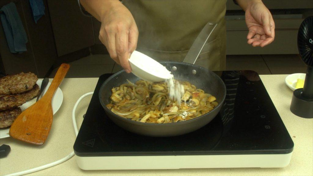 Making The Skillet Salisbury Steak Mushroom Gravy
