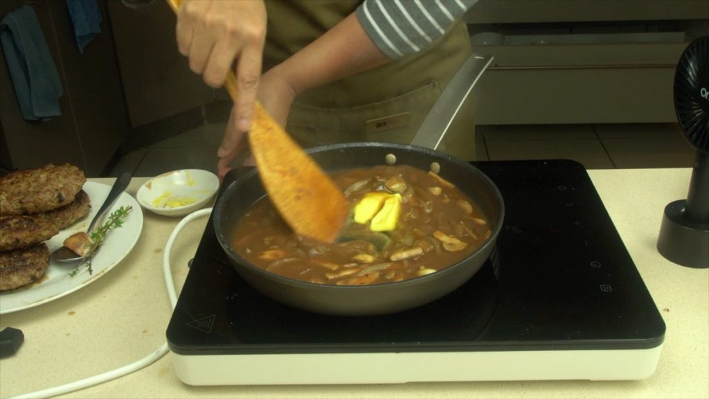 Finish The Mushroom Sauce With Butter