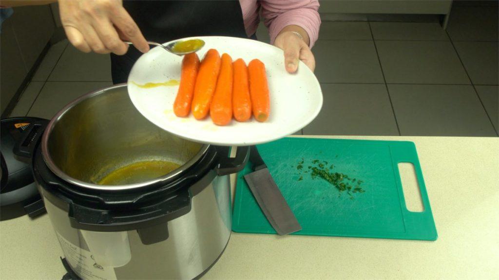 Extra Glaze Onto Carrots