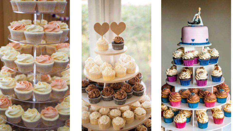 Wedding Tiered Cupcake For A Big Wedding